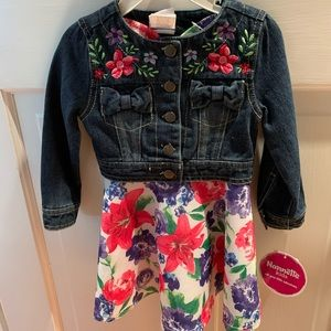 Floral Jean jacket & dress matching set